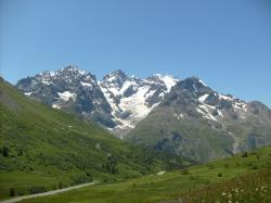 The lautaret pass and the galibier pass